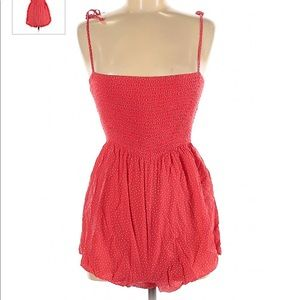 Forever 21 Red Romper w/ Polka Dots Size Medium